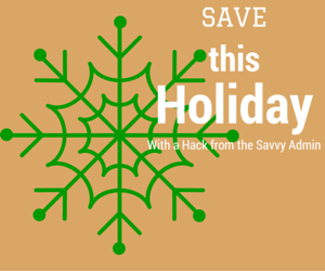 save, holiday, shopping hack