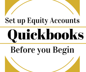 quickbooks equity before you begin