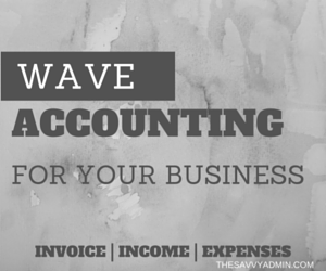 wave accounting, savvy admin