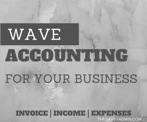 wave accounting, savvy admin